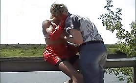 blondie lover Fuck transsexual Doggystyle On The Bank Of The River