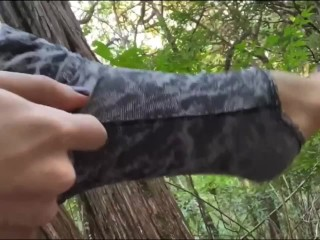 ts cums in the woods (almost gets caught)