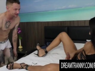 Dream t-girl - guy licks off His transexual stud Compilation