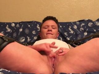 Hot t-girl jerks off his tcock to cumming FTM Ethan Hawk