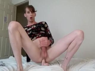 Sissy trap transexual anal training spunk.