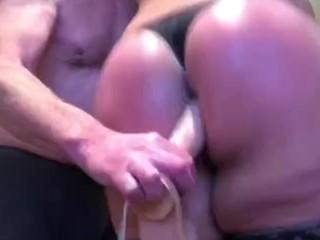 large booty lady boy takes dildo