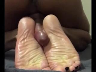 Latin transexual teasing and having fun with their feet.