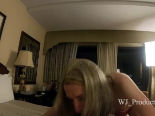 Hot MILF t-girl Gives Amazing blow Job