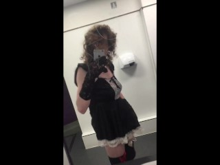 young tgirl fucking herself in public toilets