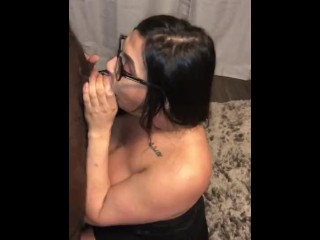 Mexican tranny sloppy deepthroat  my BBC while throat fuck her hard af!