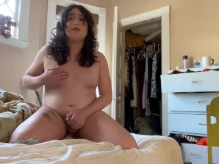 transexual takes orders on Omegle from her Daddy