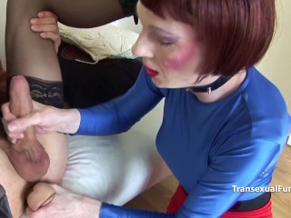 British trannies give BJs before using toys in asses