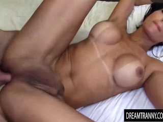 stunning lady boy Jessy Lemos Is slammed Deep in Her Pouting butthole