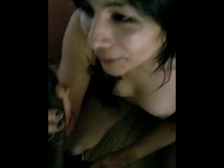 hispanic t-girl sucking bbc (only fans Aqueenuwu)