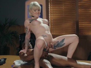 Transangels - Busty yellow-haired shemale Lena Kelly Takes A BBC Up Her ass bare