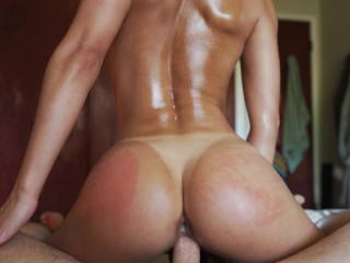 Perfect ass Gets Oiled Up And screwed (INTENSE climax ) - Amateur Babe NoFAceGirl