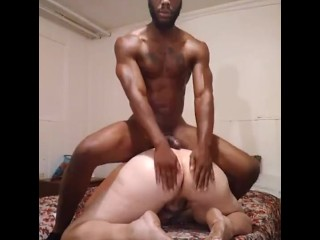 Redheaded tranny gets her giant ass eaten by BBC