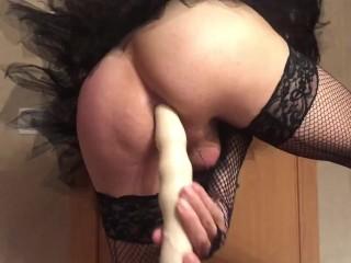 lady boy double dildo anal