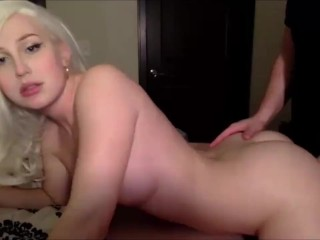 This German blond shemale knows how to please a man
