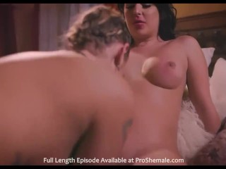 Hot shemale mounts girl hd