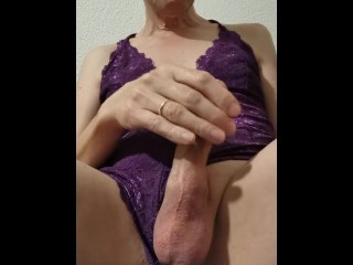 mature tranny playing with cock