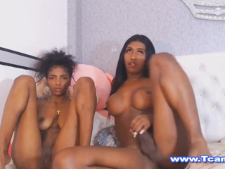 tgirl And Her broad Friend Get slutty On Cam