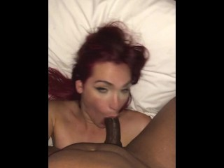 Sexi Redhead hispanic t-girl deep throat BBC Best tranny bj