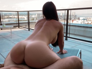 HOT Teacher gets sexed on the roof of her school - PUBLIC