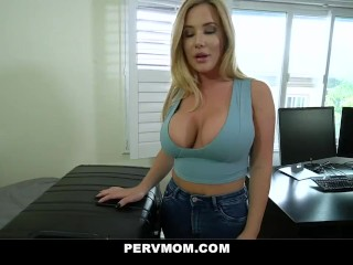 PervMom - huge behind Step Mom Cheats With Her enormous penis Stepson